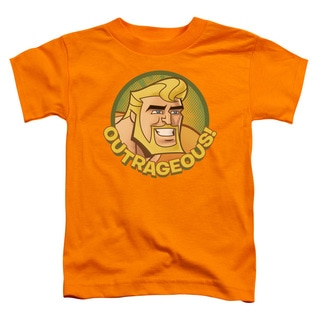 Batman Bb/Outrageous Short Sleeve Toddler Tee in Orange