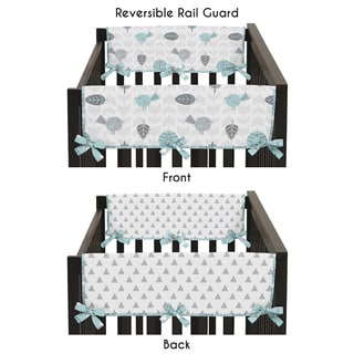 Sweet Jojo Designs Earth and Sky Collection 2-piece Side Crib Rail Guard Cover Set
