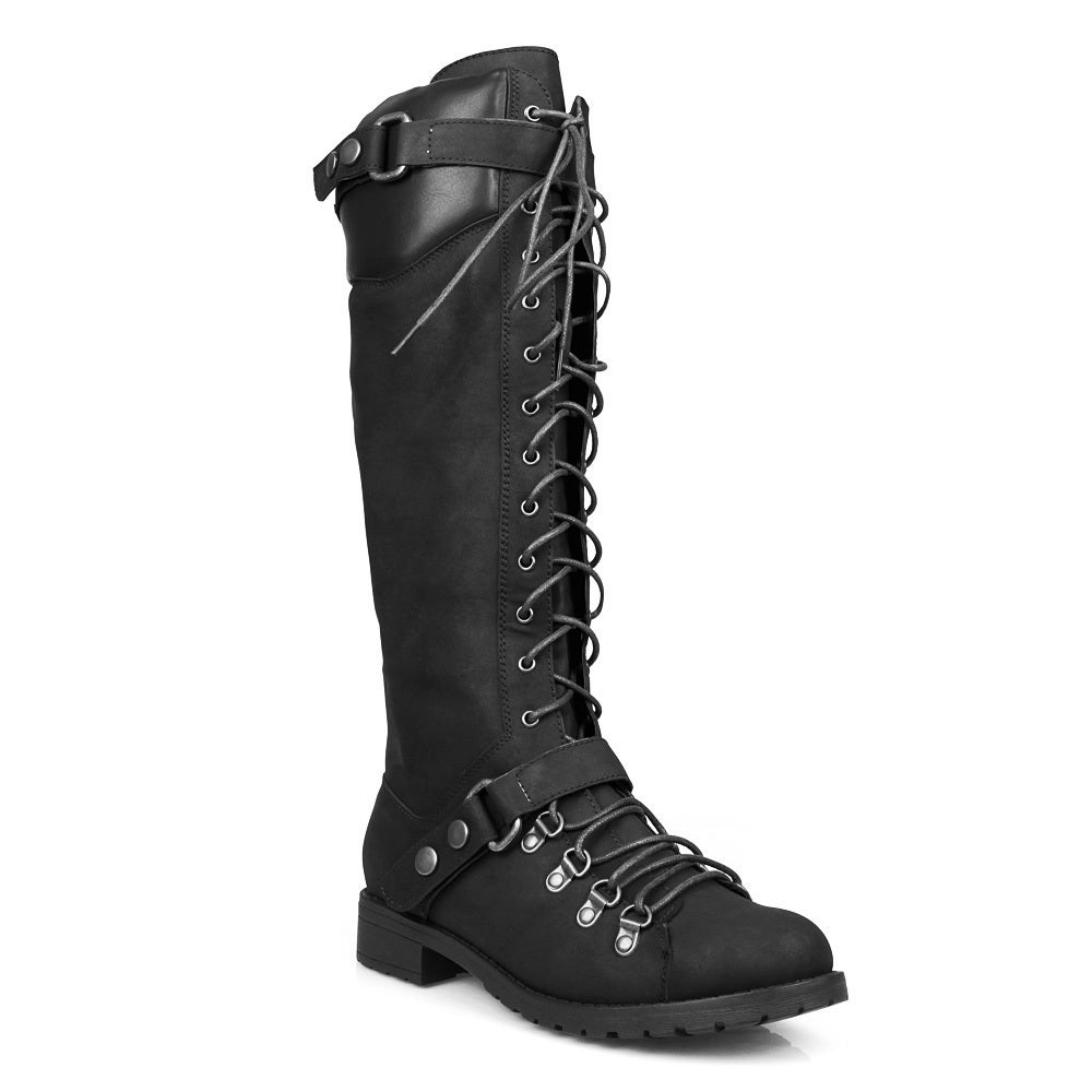 Mark and Maddux Travis-22 Lace Up Women's Military Boots ...