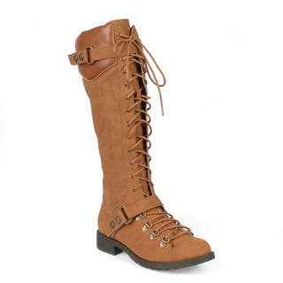 Mark and Maddux Travis-22 Lace Up Women's Military Boots|https://ak1.ostkcdn.com/images/products/12407012/P19226535.jpg?impolicy=medium