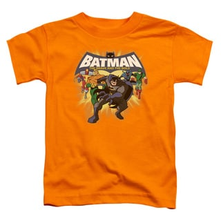 Batman Bb/A Bold Force Short Sleeve Toddler Tee in Orange
