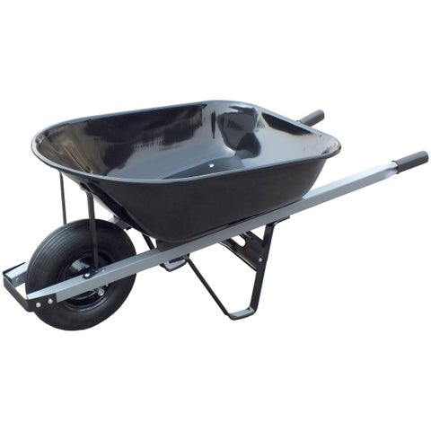 United General WH89693 6 Cubic Feet 18 Gauge Steel Tray Contractor Wheelbarrow