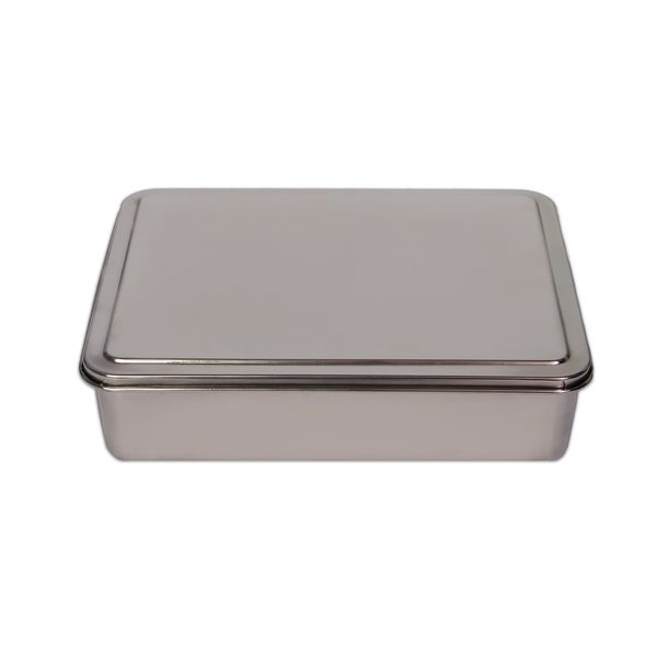 YBM Home Stainless Steel 9-inch Covered Cake Pan. Opens flyout.