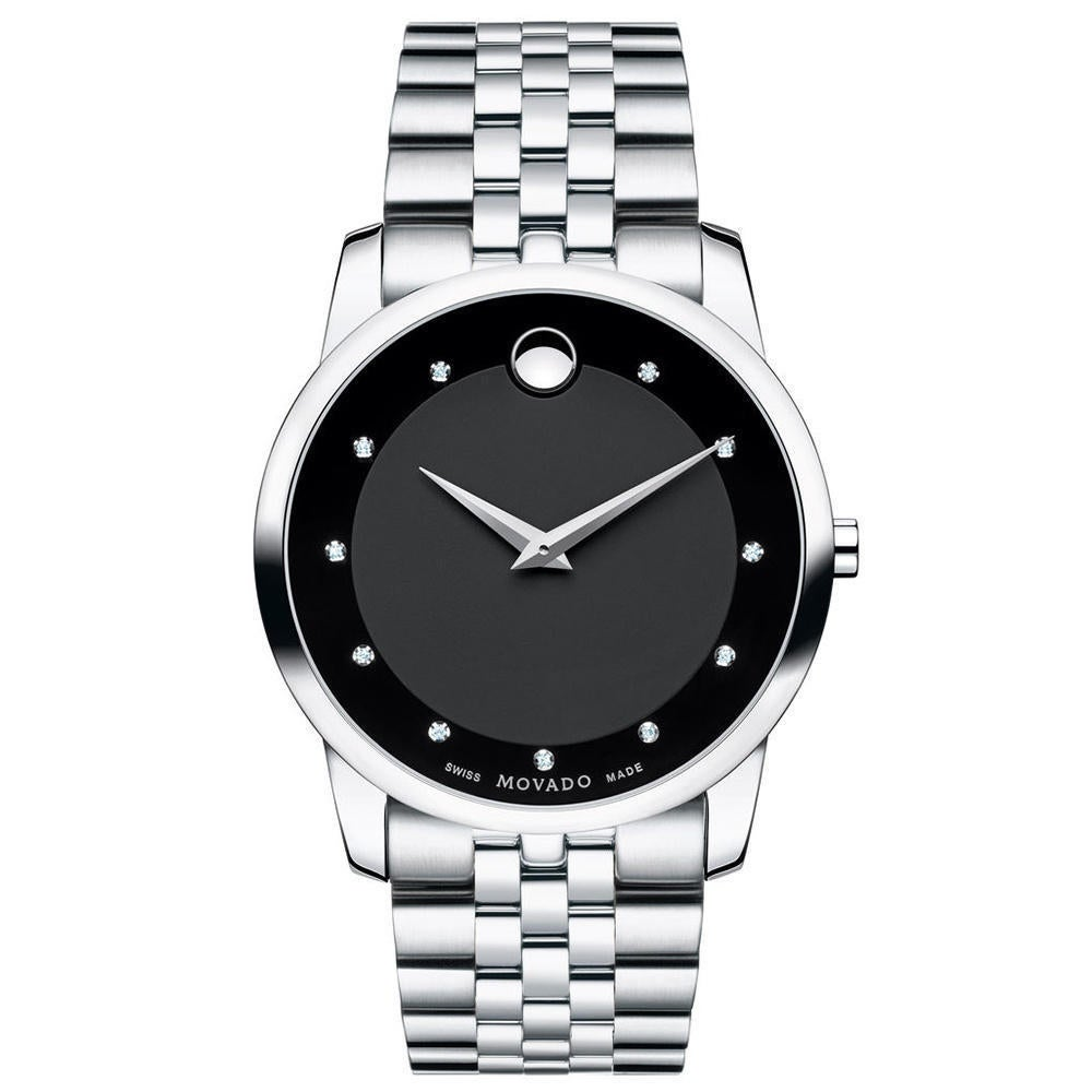 bccc40623 Movado Museum Classic Black Dial Stainless Steel Men's Watch (Movado Mens  Watch)