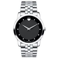 Movado Museum Classic Black Dial Stainless Steel Men's Watch