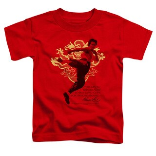 Bruce Lee/Immortal Dragon Short Sleeve Toddler Tee in Red