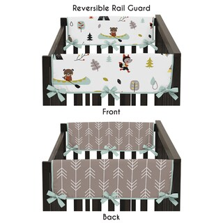 Sweet Jojo Designs Outdoor Adventure Collection Side Crib Rail Guard Covers (Set of 2)