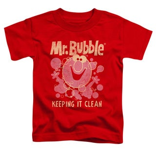 Mr Bubble/Keeping It Clean Short Sleeve Toddler Tee in Red