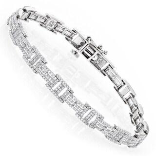 Luxurman 14k Gold 2 1/5ct TDW Diamond Bracelet (H-I, SI1-SI2)