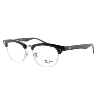 Ray-Ban Junior RY 1548 3542 Kid's Clubmaster Black and Silver Plastic 45-millimeter Eyeglasses