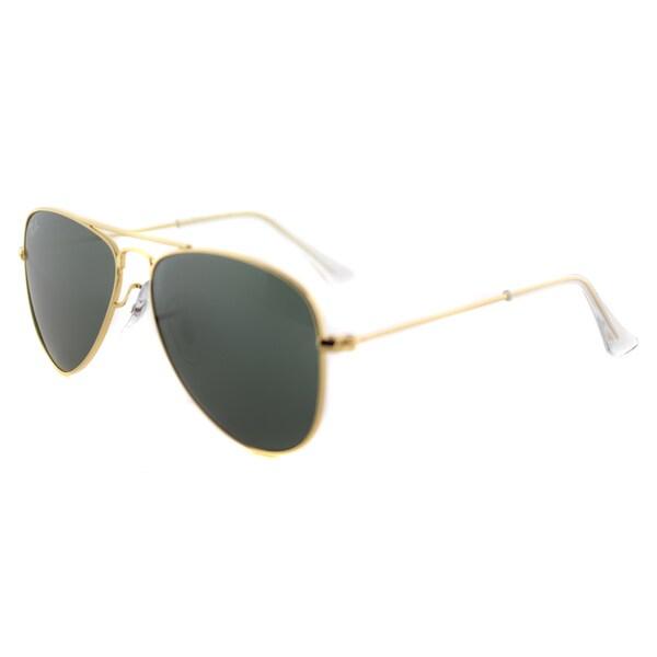 ac5c8ad6a61 Shop Ray-Ban Aviator Childrens Gold Metal 50mm Aviator Sunglasses ...