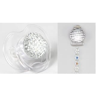 Gift Set Beaded Clip with Matching Quilted Crystal Pacifier|https://ak1.ostkcdn.com/images/products/12407400/P19226879.jpg?impolicy=medium