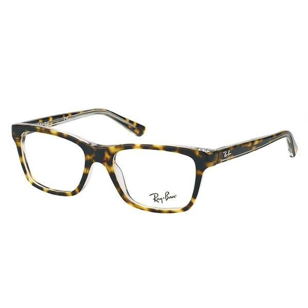Ray-Ban Junior RY 1536 3602 Dark Havana on Transparent Plastic 46-millimeter Rectangle Eyeglasses