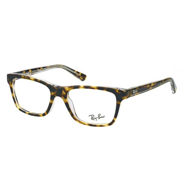 fc826de765 Shop Ray-Ban Junior RY 1536 3602 Dark Havana on Transparent Plastic  46-millimeter Rectangle Eyeglasses - Free Shipping Today - Overstock.com -  12407403
