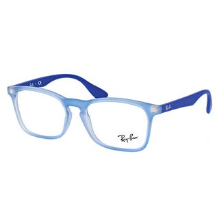 Ray-Ban RY 1553 3668 Children's Electric Blue Plastic, Rubber 48mm Square Eyeglasses