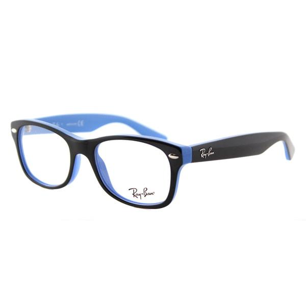 46c964dc66 Ray-Ban Junior RY 1528 3659 Black on Azure Blue Plastic 48-millimeter  Rectangle