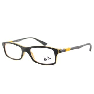 Ray-Ban Junior RY 1546 3435 Matte Black on Yellow Plastic Rectangle 46-millimeter Eyeglasses