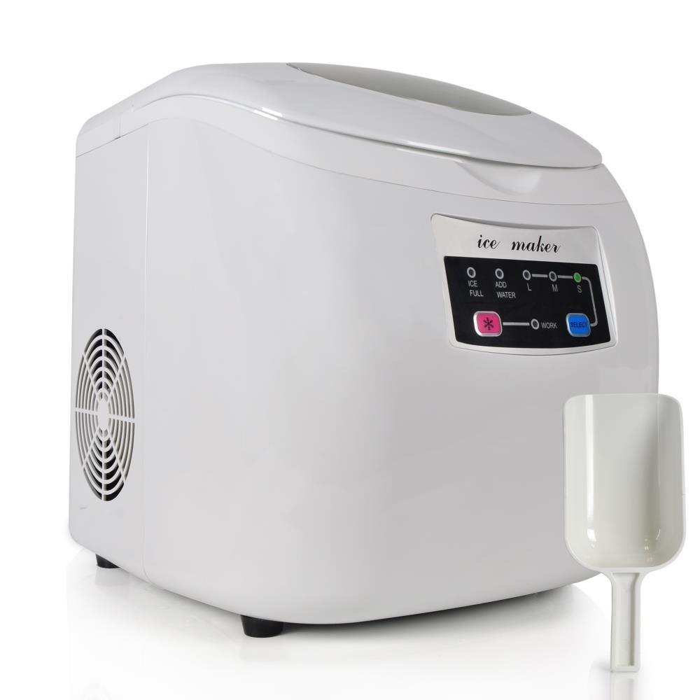 NutriChef Electronic Ice Maker & Countertop Ice Cube Maki...