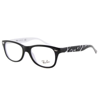 Ray-Ban Junior RY 1544 3579 Black/White Plastic Rectangle Eyeglasses