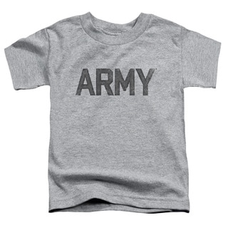 Army/Star Short Sleeve Toddler Tee in Athletic Heather