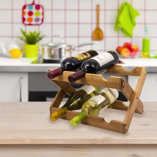Sorbus Bamboo 6-bottle Countertop Wine Rack