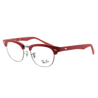 Ray-Ban Junior RY 1548 3651 Clubmaster Matte Red/Silvertone Plastic 45-millimeter Eyeglasses