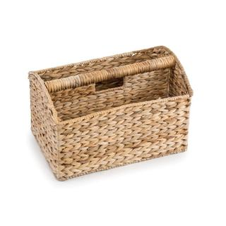 Trademark Innovations Banana Leaf Magazine Basket and Rack