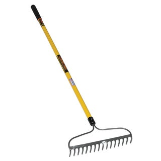 Seymour-Structron BR16 42366 60-inch Handle 16 Tine Fiberglass Handle Structron Bow Rake