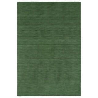 "Gabbeh Emerald Hand Made Rug - 5' x 7'6"""