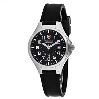 Victorinox Swiss Army Unisex 24126 'Base Camp' Black Rubber Watch