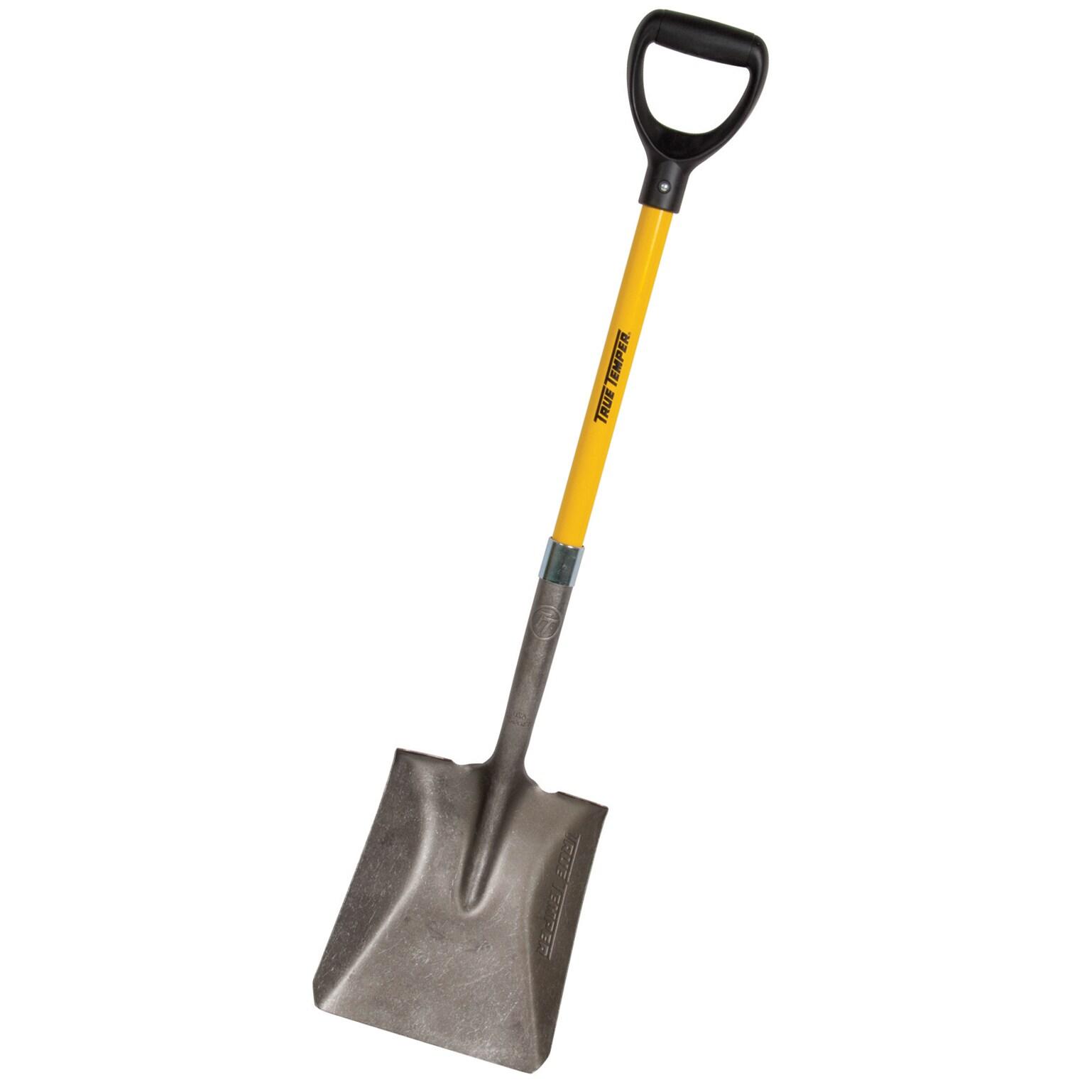 AMES 163034800 16 Gauge Steel Square Shovel With Fibergla...