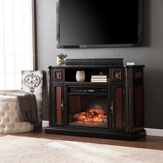 Harper Blvd Ellis Ebony Media Console/ Stand Infrared Electric Fireplace