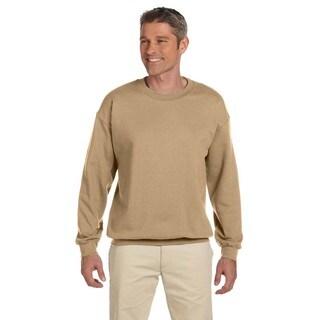 Ultimate Cotton 90/10 Fleece Men's Crew-Neck Pebble Sweater