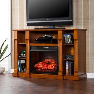 Harper Blvd Bernardo Glazed Pine Infrared Electric Media Fireplace