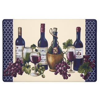 Chateau Wine Mat Anti-fatigue Decorative Kitchen Floor Mat