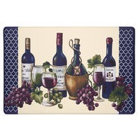 Achim Chateau Wine Mat Anti-fatigue Decorative Kitchen Floor Mat - multi - 1'6 x 2'6