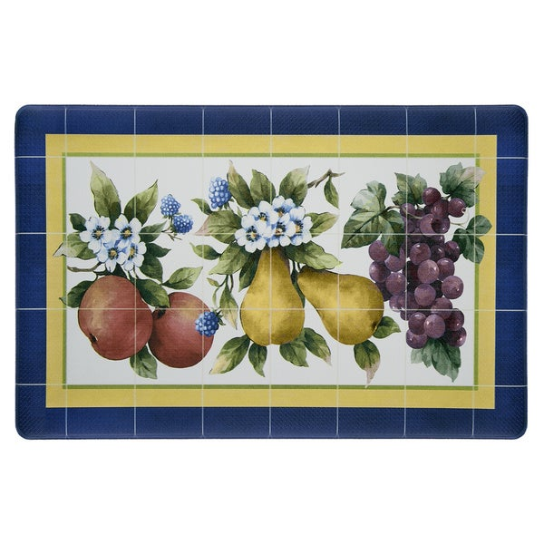 Achim Fruity Tiles Anti-fatigue Decorative Kitchen Floor Mat - Multi - 1'6 x 2'6