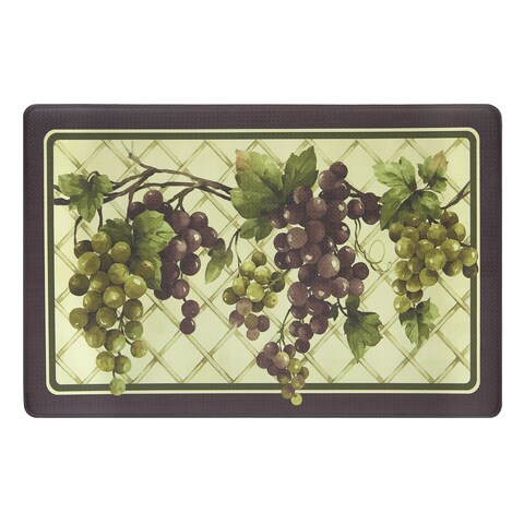 Achim Tuscany Grapes Anti-fatigue Decorative Kitchen Floor Mat