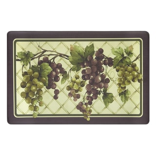 Tuscany Grapes Anti-fatigue Decorative Kitchen Floor Mat