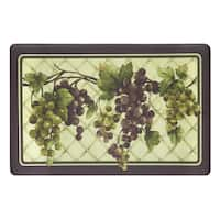 Achim Tuscany Grapes Anti-fatigue Decorative Kitchen Floor Mat - Multi - 1'6 x 2'6