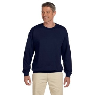 Ultimate Cotton 90/10 Fleece Men's Crew-Neck Navy Sweater