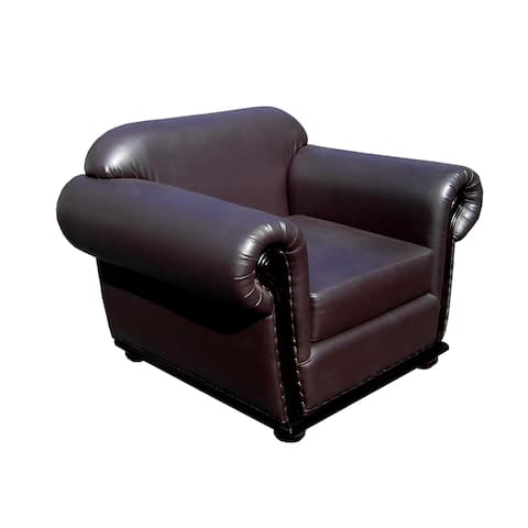 Handmade D-Art Carter Dark Brown Arm Chair (Indonesia)