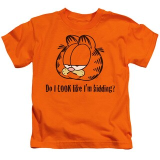Garfield/Do I Look Like I'M Kidding Short Sleeve Juvenile Graphic T-Shirt in Orange