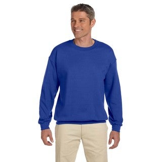 Ultimate Cotton 90/10 Fleece Men's Crew-Neck Deep Royal Sweater