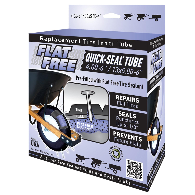 Marathon Flat Free 45011 6-inch Flat Free Quick Seal Tube...