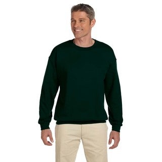 Ultimate Cotton 90/10 Fleece Men's Crew-Neck Deep Forest Sweater
