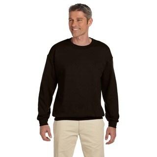 Ultimate Cotton 90/10 Fleece Men's Crew-Neck Dark Chocolate Sweater