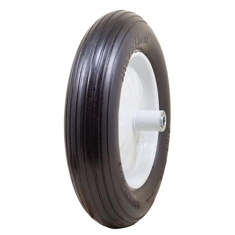 Marathon Industries 00001 16-inch Ribbed Flat Free Wheelbarrow Tire