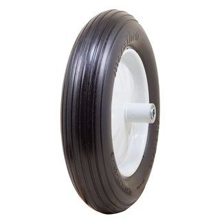 Marathon Industries 00001 16-inch Ribbed Flat Free Wheelbarrow Tire