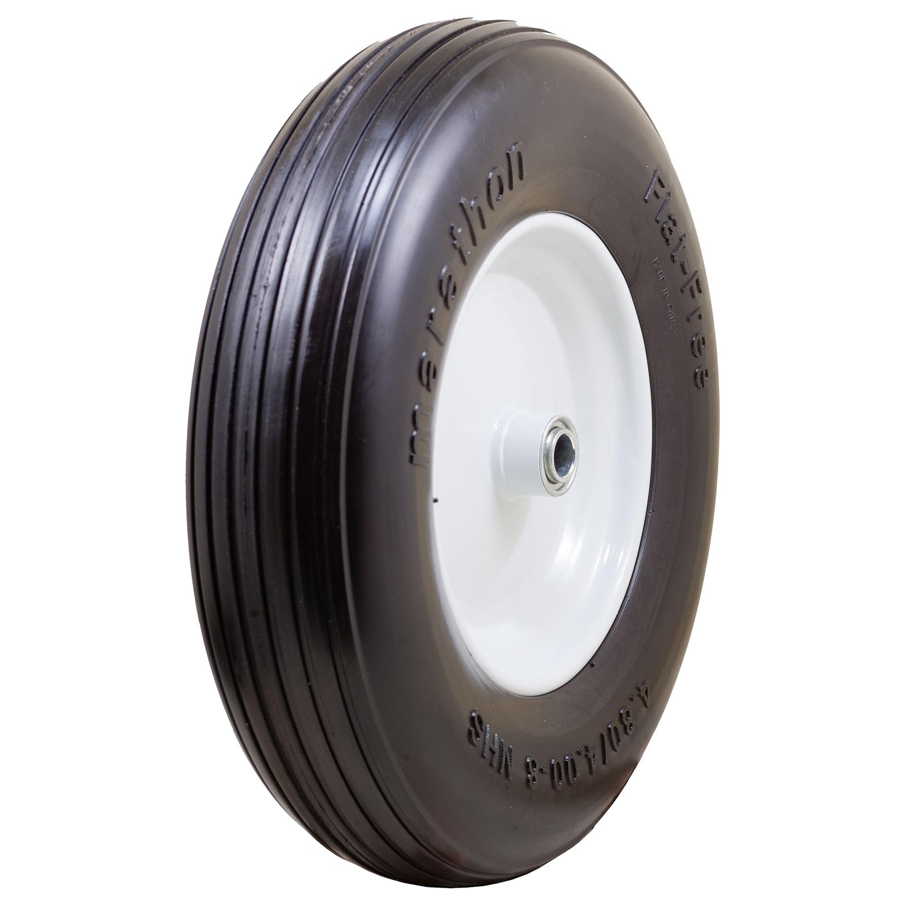 "Marathon 4.80//4.00 8/"" Flat Free Wheelbarrow Tire ="